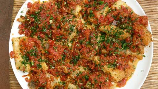 Salt Cod in a Tomatoey Sauce
