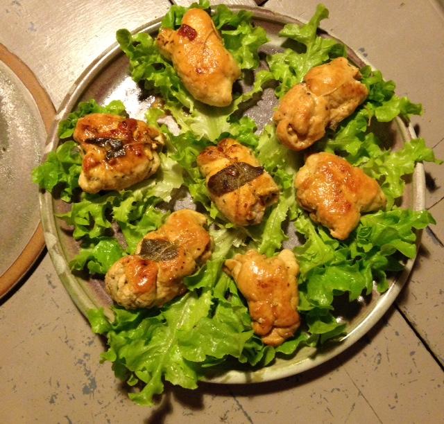Chicken breast rolls