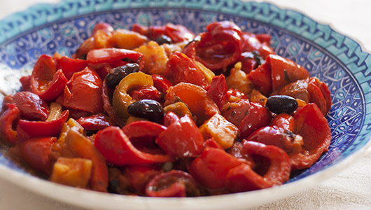 Peperonata ~ Stewed bell peppers