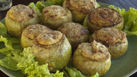 Stuffed Round Zucchini/Courgettes