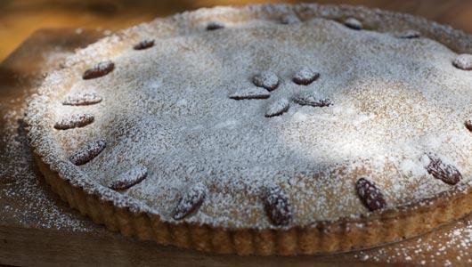 Custard Pie with Pine Nuts & Almonds